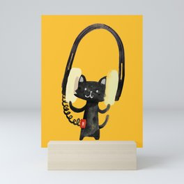 I Love Huge Headphone Mini Art Print