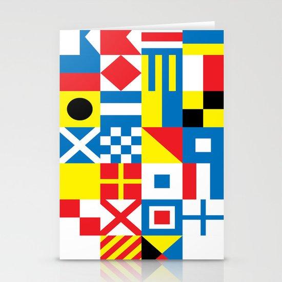 International Alphabetical Marine Signal Flags Stationery Cards