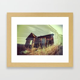 Ghost Town - House in the Field Framed Art Print