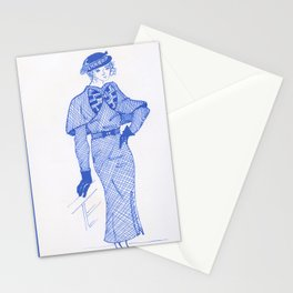 1930s Fashion Maven #InkDrawing #Vintage #Retro Stationery Cards