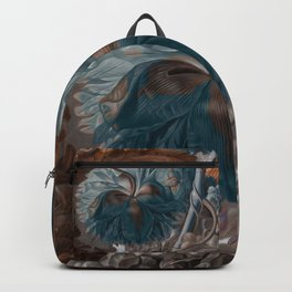 """""""Baroque flora in sienna and cyan"""" Backpack"""
