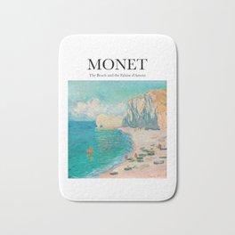 Monet - The Beach and the Falaise d'Amont Bath Mat