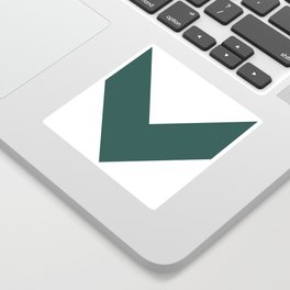 Chevron (Dark Green & White) Sticker
