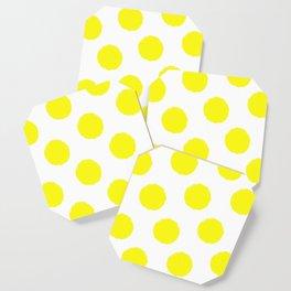 Polka Dots (White & Yellow) Coaster