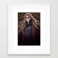thranduil Framed Art Prints featuring Thranduil by Hanna Nordin