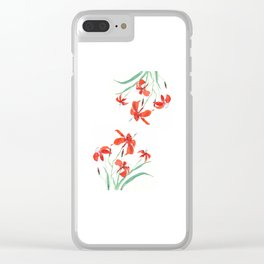 orange day lily Clear iPhone Case
