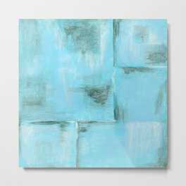 Frost, Abstract Art Painting Metal Print