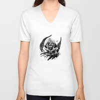 tokyo ghoul V-neck T-shirts featuring Kaneki Tokyo Ghoul 2 by Prince Of Darkness