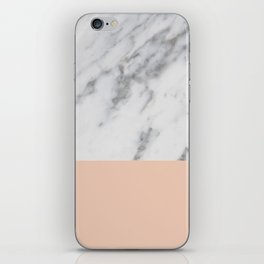 Marble and Blush Pink iPhone Skin