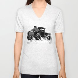 1946 Chevy Pick-up – BLACK Unisex V-Neck