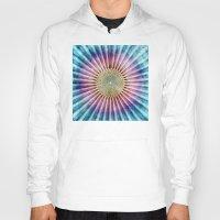 tie dye Hoodies featuring Textured Mandala Tie Dye by Phil Perkins