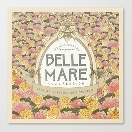 Belle Mare Buzzsession Cover Art Canvas Print