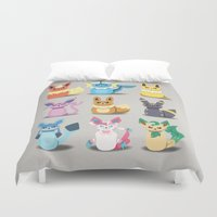 sylveon Duvet Covers featuring Evolution Bobbles by creativeesc