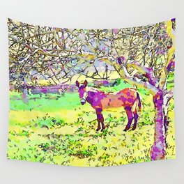 Laureana Cilento: donkey in the olive grove Wall Tapestry