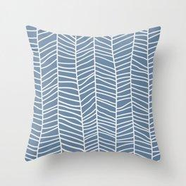 Baesic Herringbone (Denim) Throw Pillow