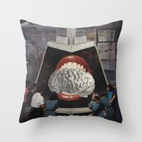 brain Throw Pillows featuring Brain by •ntpl•