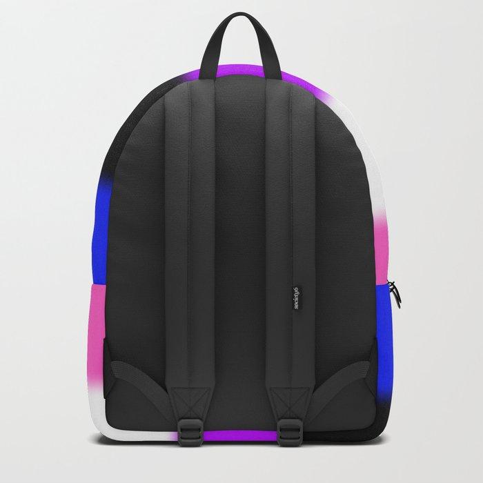 Genderfluid and Proud (black bg) Backpack