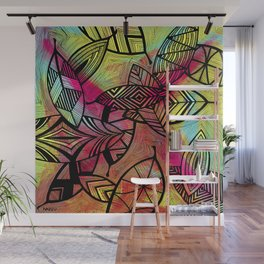 Crazy Leaves  Wall Mural