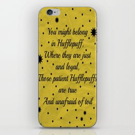 Hufflepuff House Pride iPhone Skin