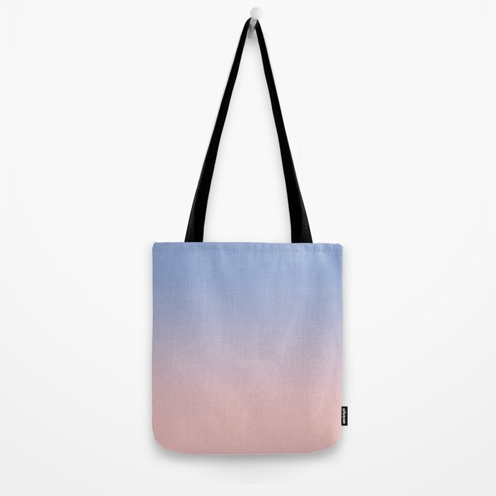 Pantone Rose Quartz and Serenity Ombre Tote Bag