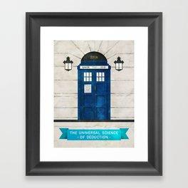 Doctor Who & Sherlock Framed Art Print