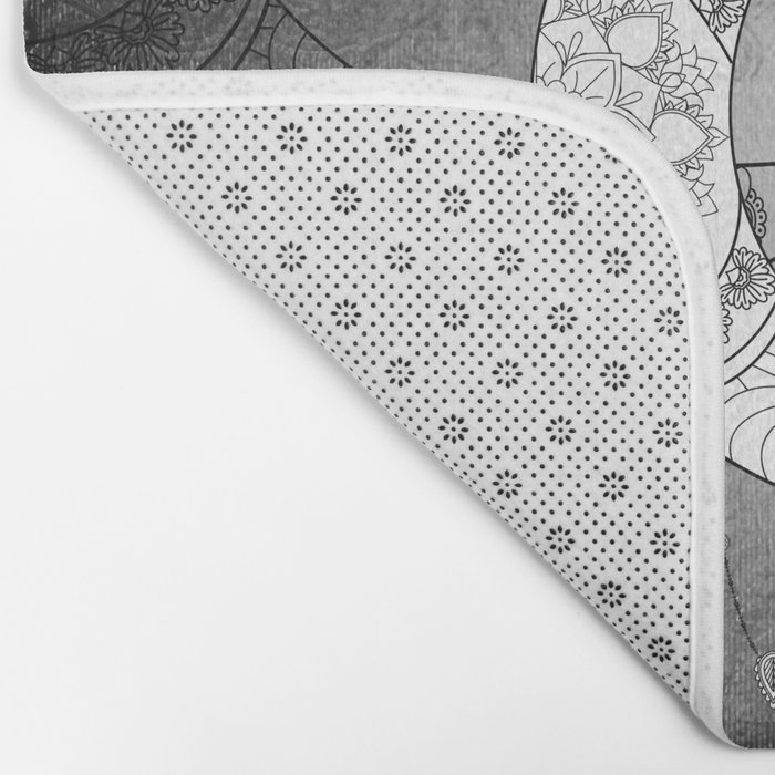 The moon, mandala design Bath Mat