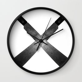 Cross Machete Wall Clock