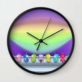 9 robots Wall Clock