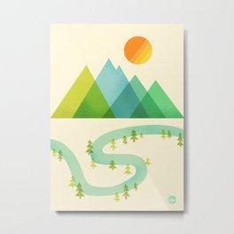 Bend in the River Metal Print