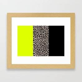 Leopard National Flag V Framed Art Print