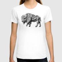 bison T-shirts featuring Bison by BIOWORKZ