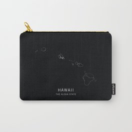 Hawaii State Road Map Carry-All Pouch
