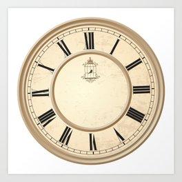 Classy Vintage Birdcage Decorative Clock Art Print