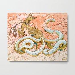Mystic Golden Kitsune Metal Print