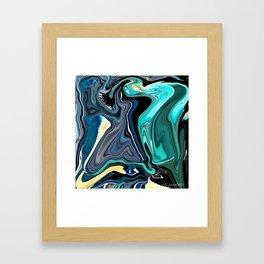 Blue Temptation Framed Art Print