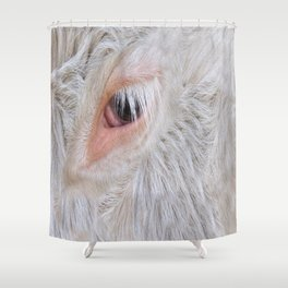 Cow's Eye Lash Shower Curtain
