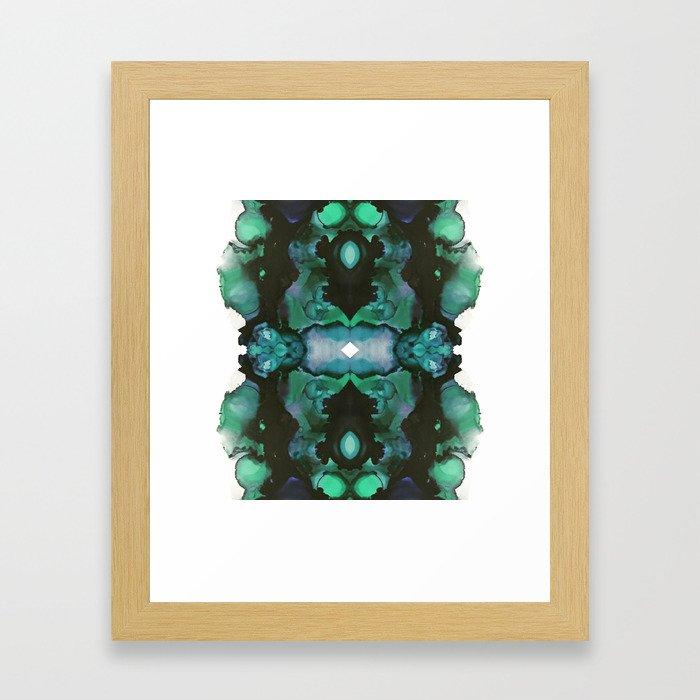 blue inertia Framed Art Print