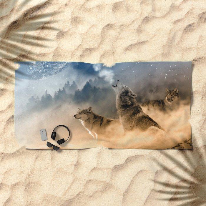 Moonrise Howl Beach Towel