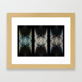 Floral Curtains Framed Art Print