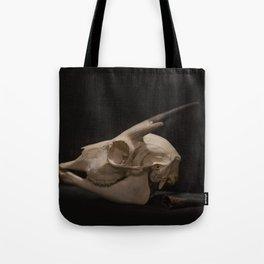 White Tail Deer Skull Tote Bag