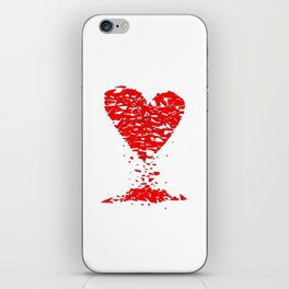 Shattered Lovers Heart iPhone Skin