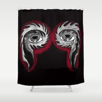 tool Shower Curtains featuring Tool Aura by SnowVampire