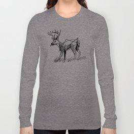 Modern deer Long Sleeve T-shirt