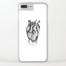 Bleeding Heart - A3 Ink illustration Clear iPhone Case