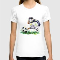 football T-shirts featuring Football by Anna Shell