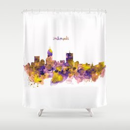Indianapolis Skyline Silhouette Shower Curtain