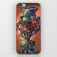 mad hatter iPhone & iPod Skins featuring Mad Hatter by Tim Shumate
