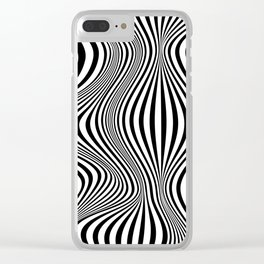 Abstract Optical Illusion Background Clear iPhone Case