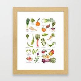 Calendar-January thru June Framed Art Print