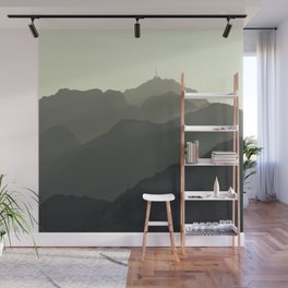 MOUNTAINS SILHOUETTE Wall Mural
